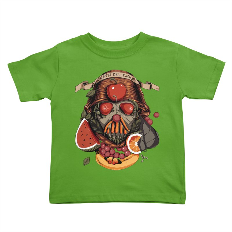 Darth Delicious Kids Toddler T-Shirt by Santiago Sarquis's Artist Shop