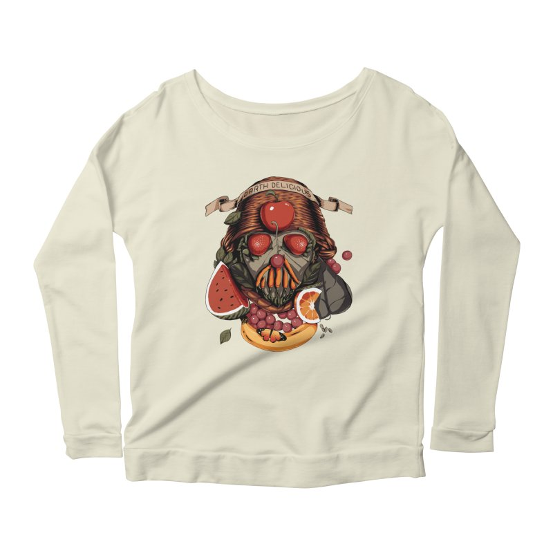 Darth Delicious Women's Longsleeve Scoopneck  by Santiago Sarquis's Artist Shop