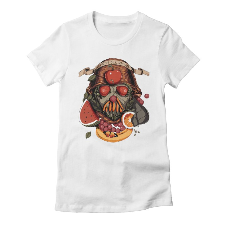 Darth Delicious Women's Fitted T-Shirt by Santiago Sarquis's Artist Shop
