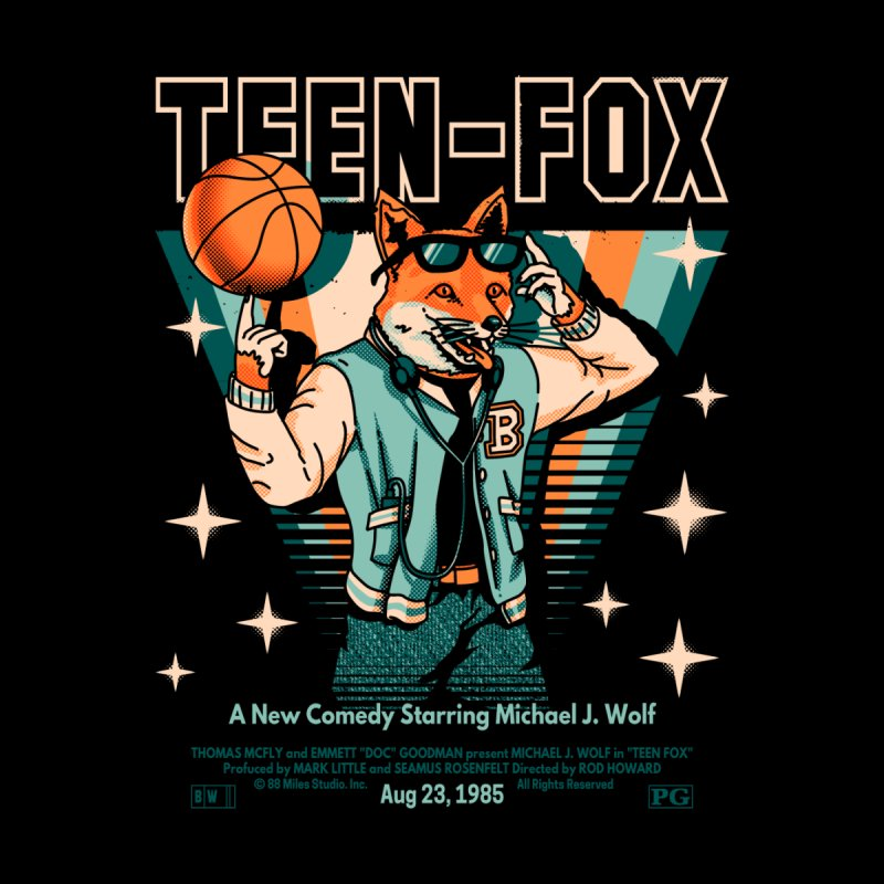 Teen Fox Women's Zip-Up Hoody by Santiago Sarquis's Artist Shop