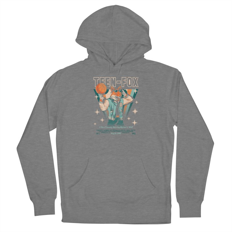 Teen Fox Men's French Terry Pullover Hoody by Santiago Sarquis's Artist Shop