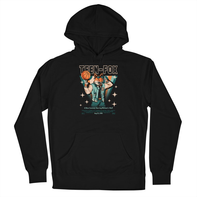 Teen Fox Women's Pullover Hoody by Santiago Sarquis's Artist Shop