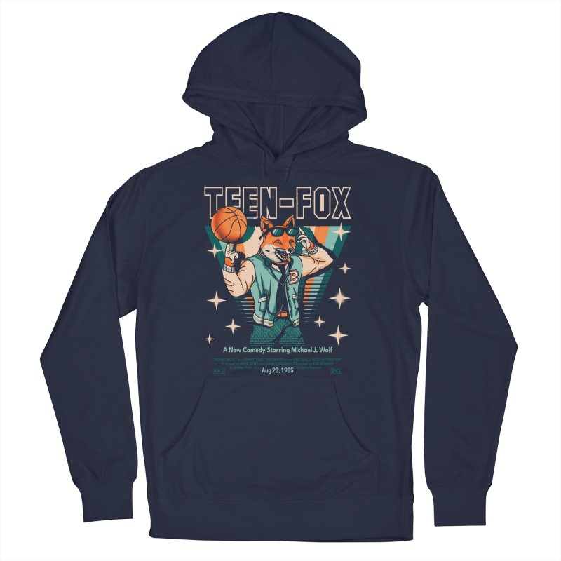 Teen Fox Women's French Terry Pullover Hoody by Santiago Sarquis's Artist Shop