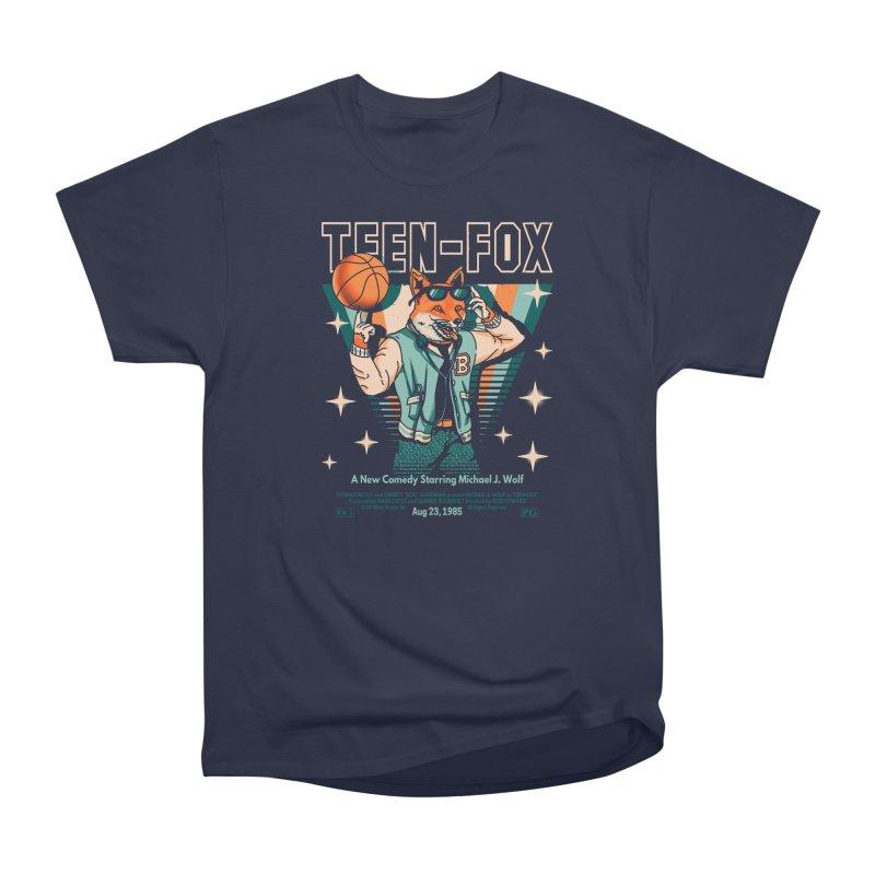Teen Fox Women's Heavyweight Unisex T-Shirt by Santiago Sarquis's Artist Shop