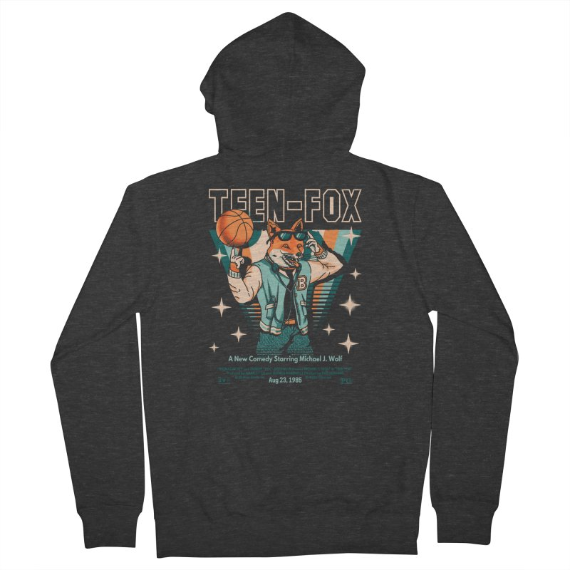 Teen Fox Women's Zip-Up Hoody by metalsan's Artist Shop