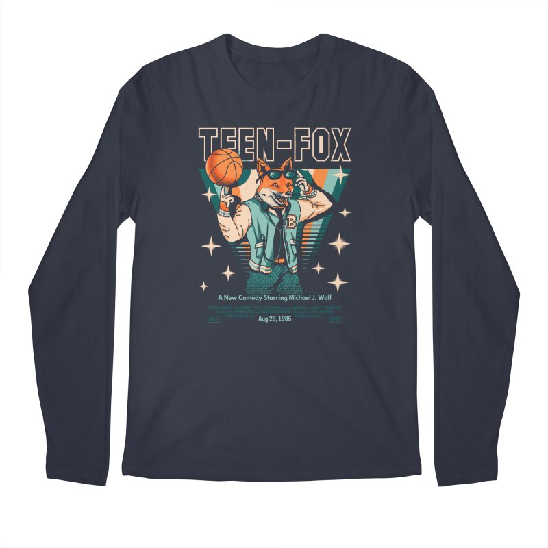 Teen Fox Men's Longsleeve T-Shirt by Santiago Sarquis's Artist Shop
