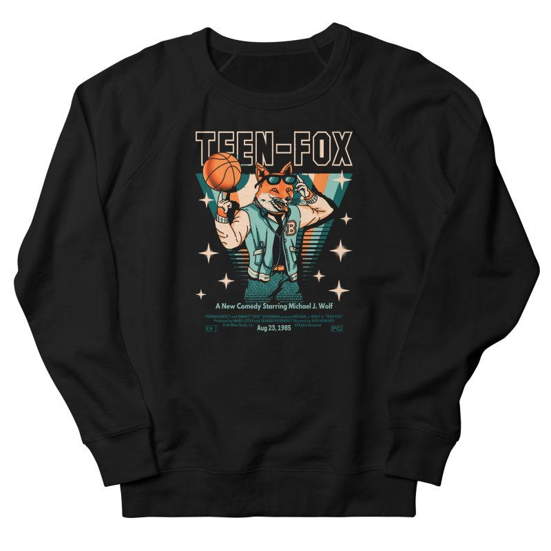 Teen Fox Women's French Terry Sweatshirt by Santiago Sarquis's Artist Shop