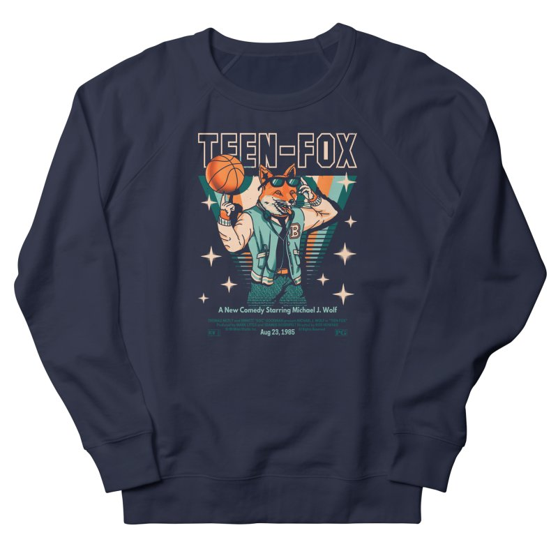 Teen Fox Men's French Terry Sweatshirt by Santiago Sarquis's Artist Shop