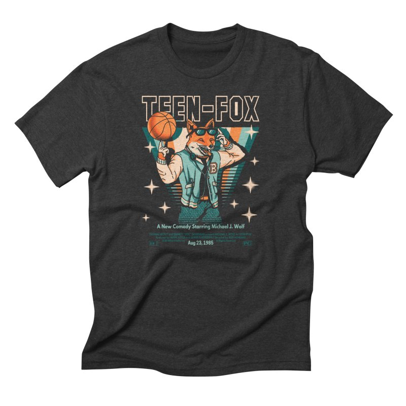 Teen Fox Men's Triblend T-Shirt by Santiago Sarquis's Artist Shop