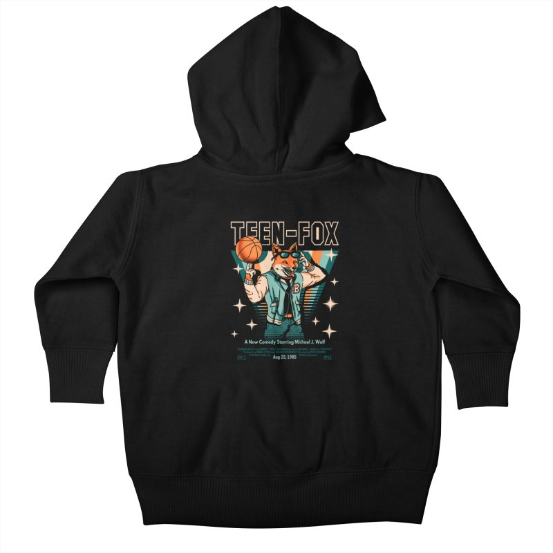 Teen Fox Kids Baby Zip-Up Hoody by Santiago Sarquis's Artist Shop