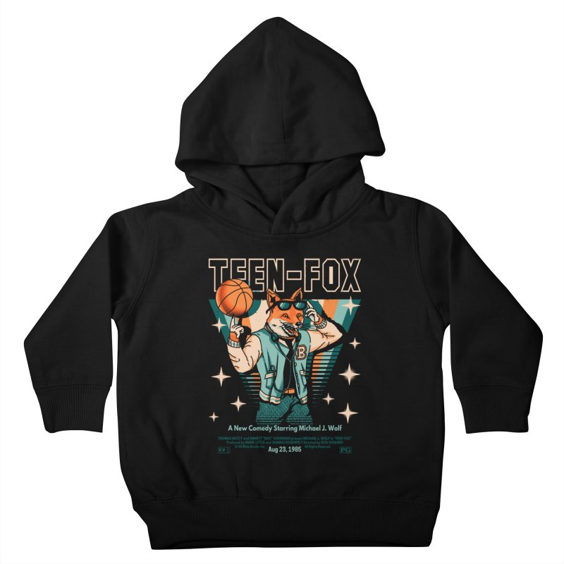 Teen Fox Kids Toddler Pullover Hoody by Santiago Sarquis's Artist Shop