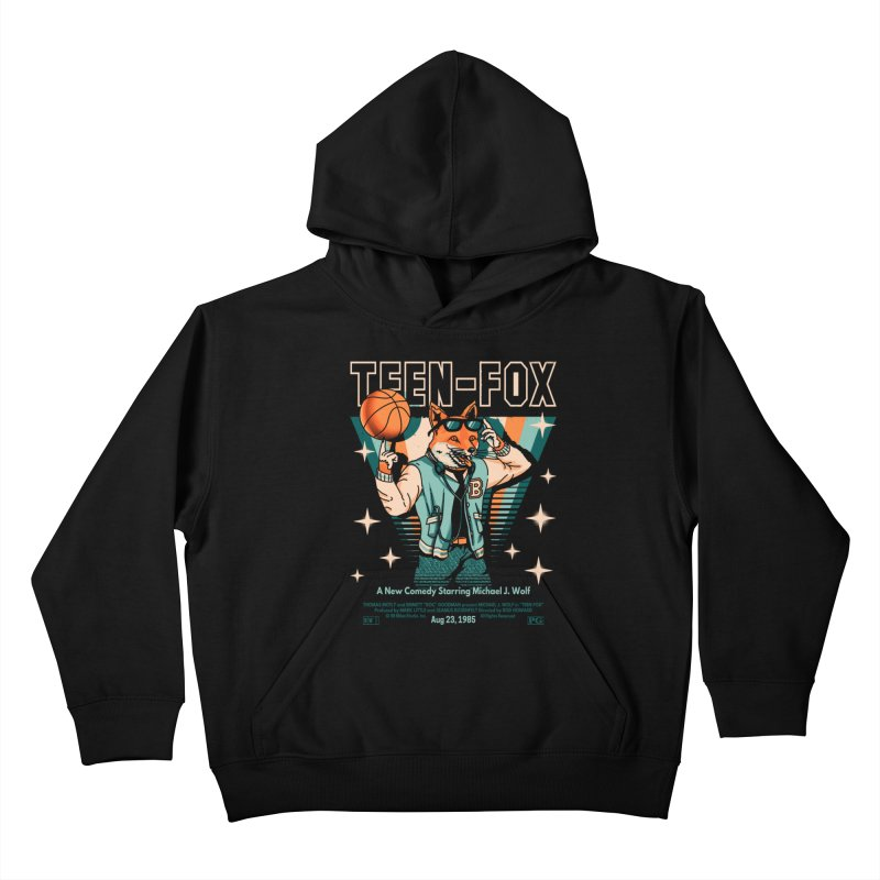 Teen Fox Kids Pullover Hoody by Santiago Sarquis's Artist Shop