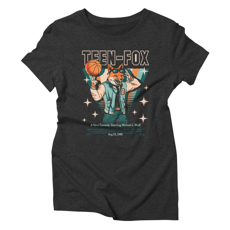 Teen Fox Women's Triblend T-Shirt by Santiago Sarquis's Artist Shop