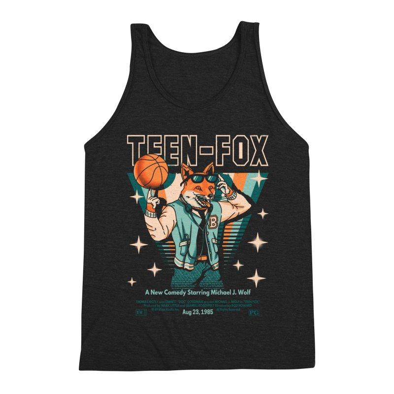 Teen Fox Men's Triblend Tank by Santiago Sarquis's Artist Shop