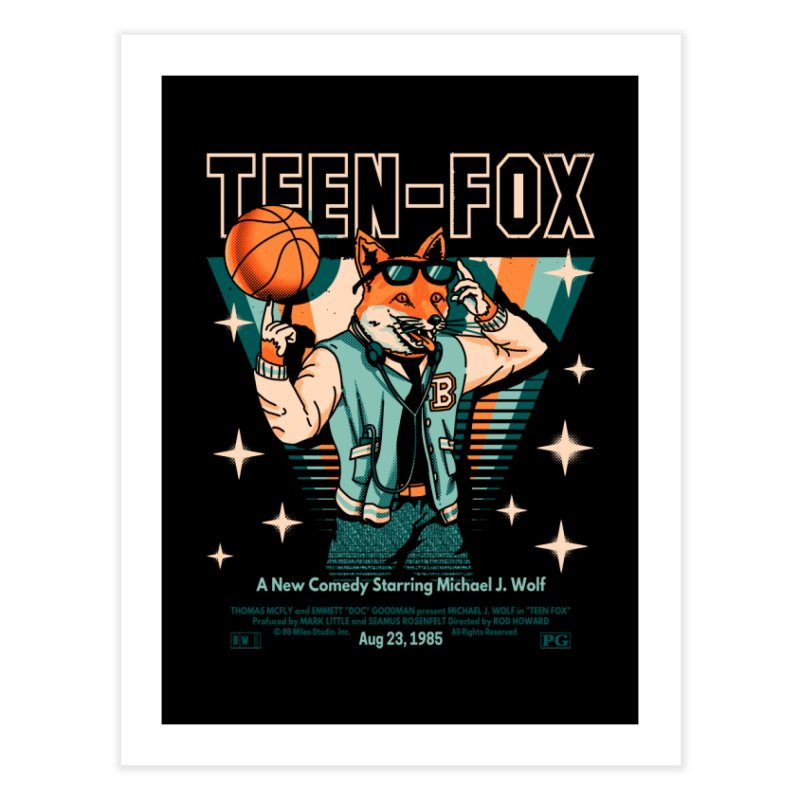 Teen Fox Home Fine Art Print by Santiago Sarquis's Artist Shop