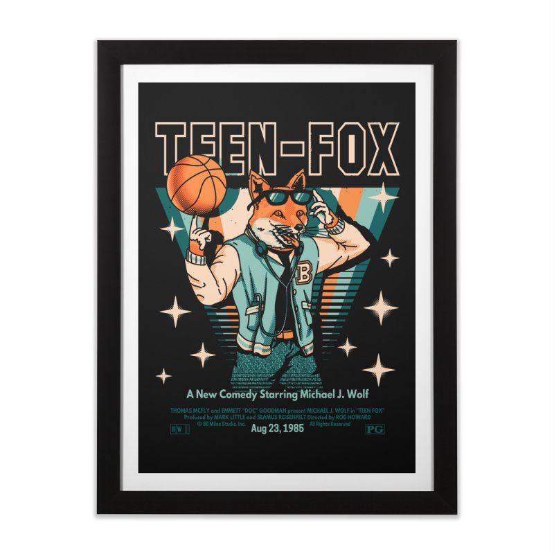 Teen Fox Home Framed Fine Art Print by Santiago Sarquis's Artist Shop