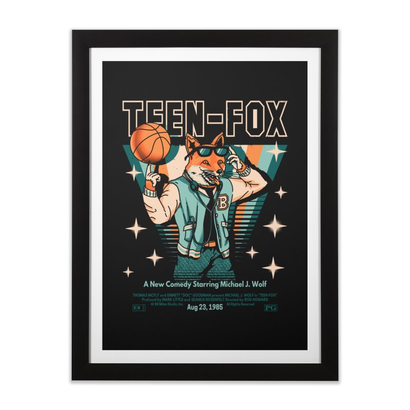 Teen Fox Home Framed Fine Art Print by Santiago Sarquis's Artist Shop