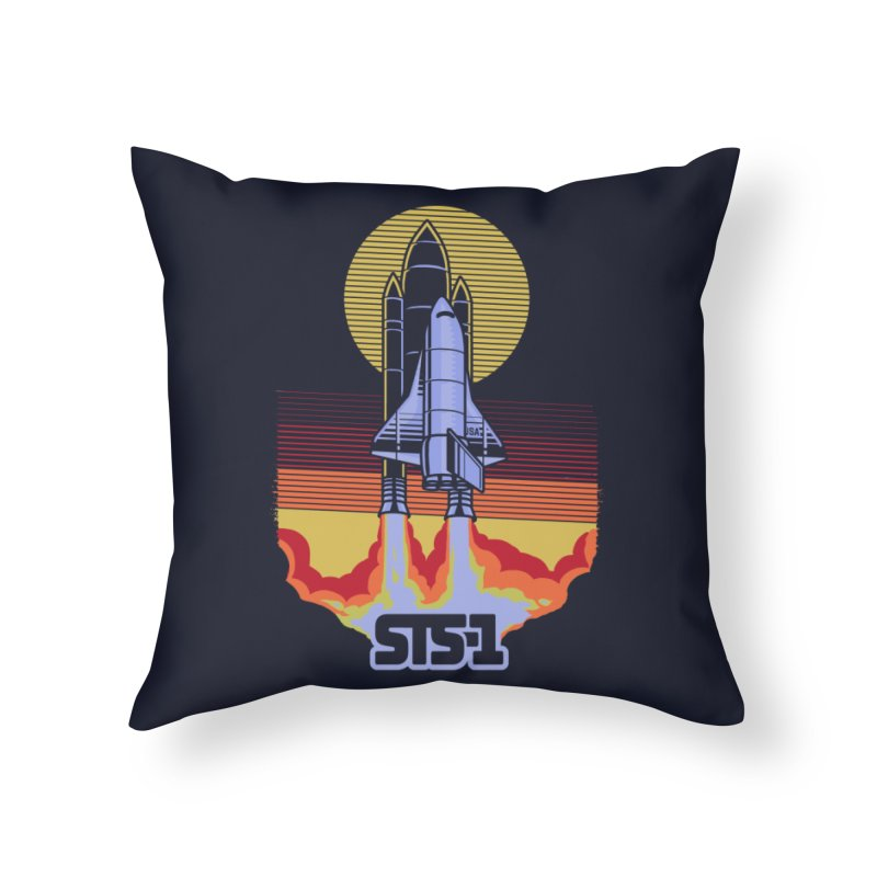 STS-1 Home Throw Pillow by metalsan's Artist Shop
