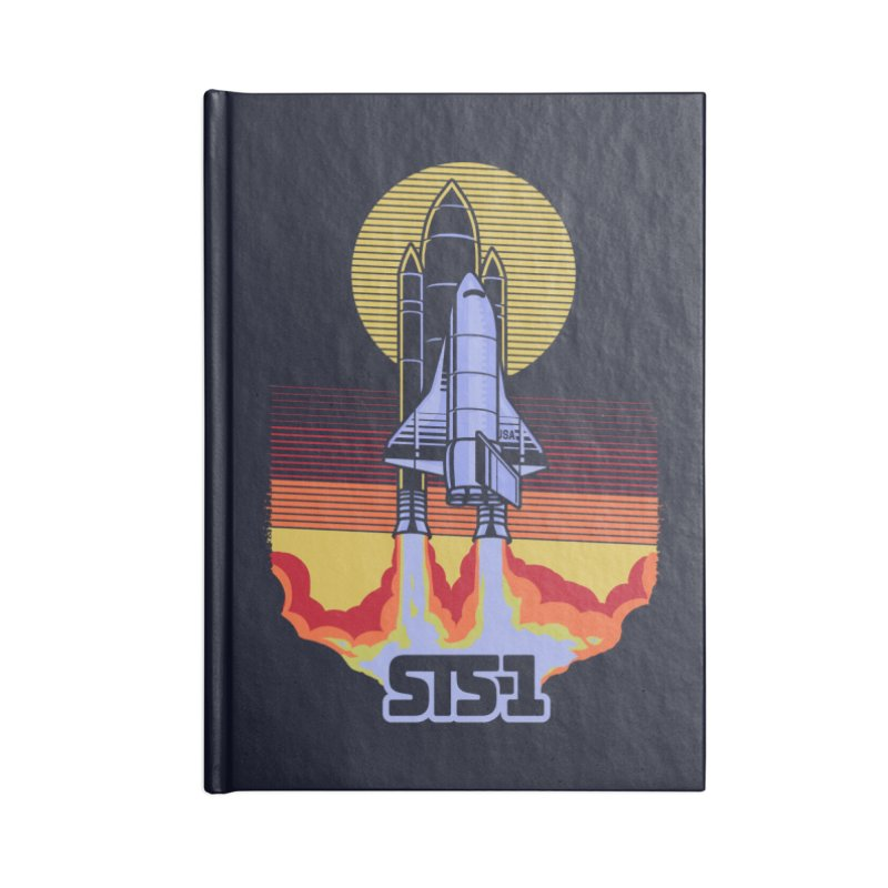 STS-1 Accessories Notebook by metalsan's Artist Shop