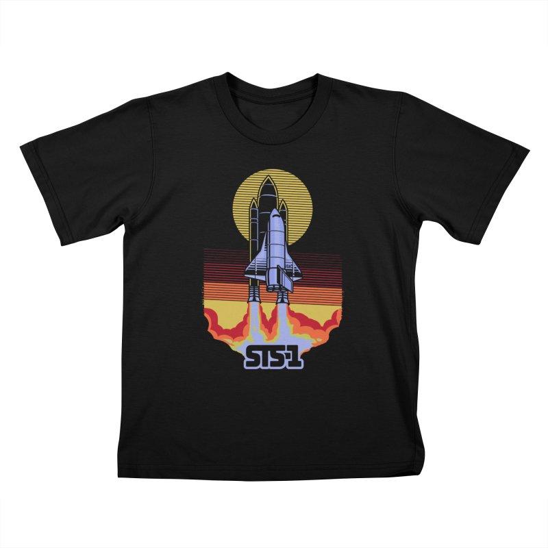 STS-1 Kids T-shirt by metalsan's Artist Shop
