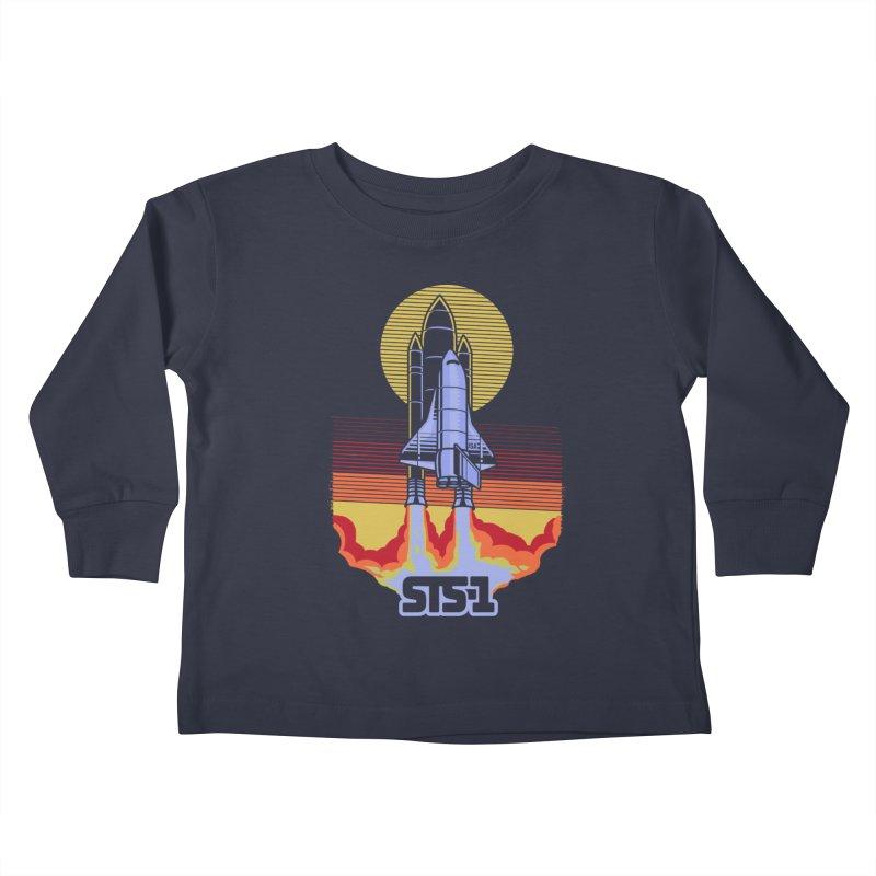 STS-1 Kids Toddler Longsleeve T-Shirt by metalsan's Artist Shop