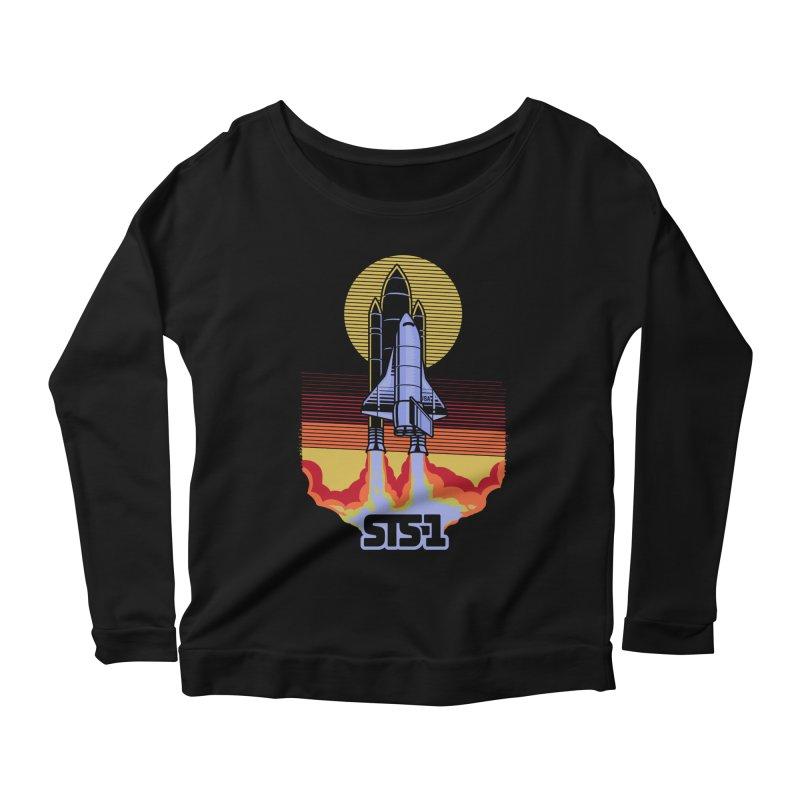STS-1 Women's Longsleeve Scoopneck  by metalsan's Artist Shop