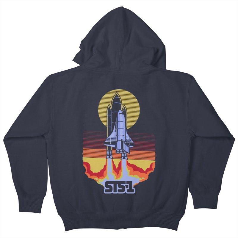 STS-1 Kids Zip-Up Hoody by metalsan's Artist Shop