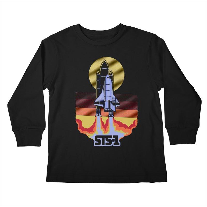 STS-1 Kids Longsleeve T-Shirt by metalsan's Artist Shop