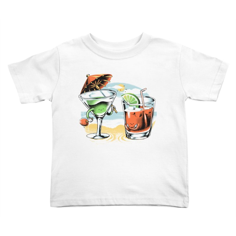 A Day at the Beach Kids Toddler T-Shirt by metalsan's Artist Shop