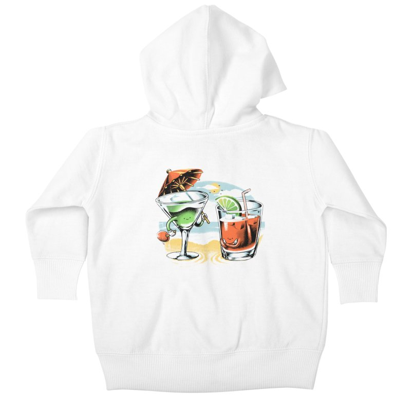 A Day at the Beach Kids Baby Zip-Up Hoody by metalsan's Artist Shop