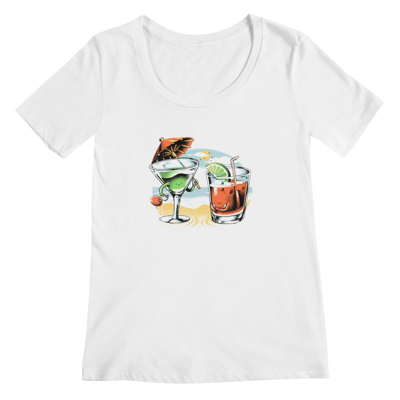 A Day at the Beach Women's Scoopneck by metalsan's Artist Shop
