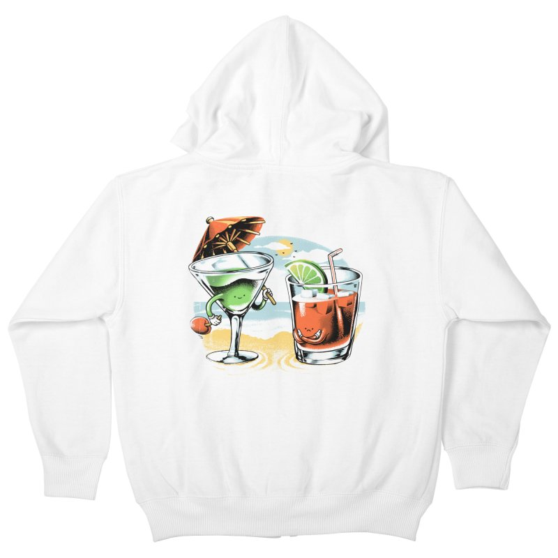 A Day at the Beach Kids Zip-Up Hoody by metalsan's Artist Shop