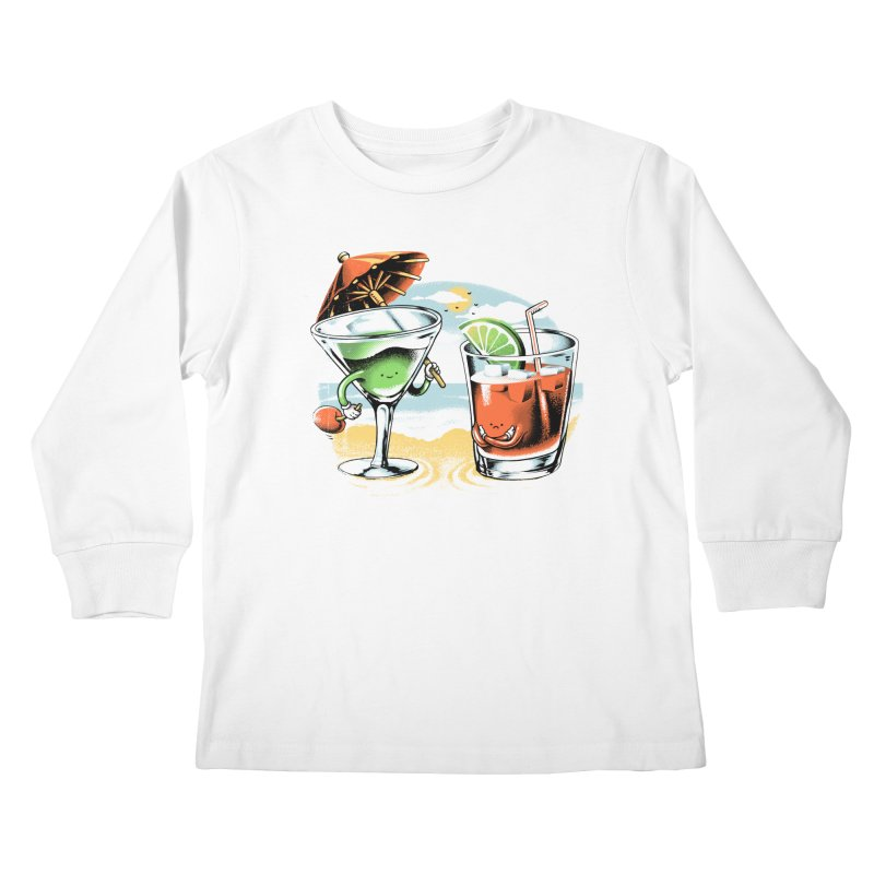 A Day at the Beach Kids Longsleeve T-Shirt by metalsan's Artist Shop