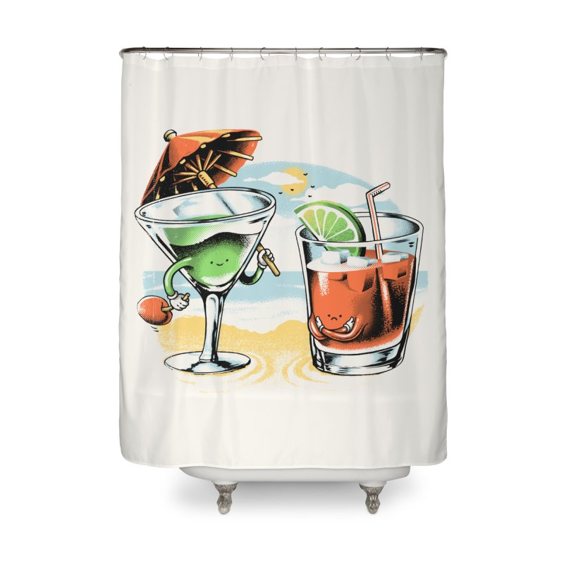 A Day at the Beach Home Shower Curtain by metalsan's Artist Shop