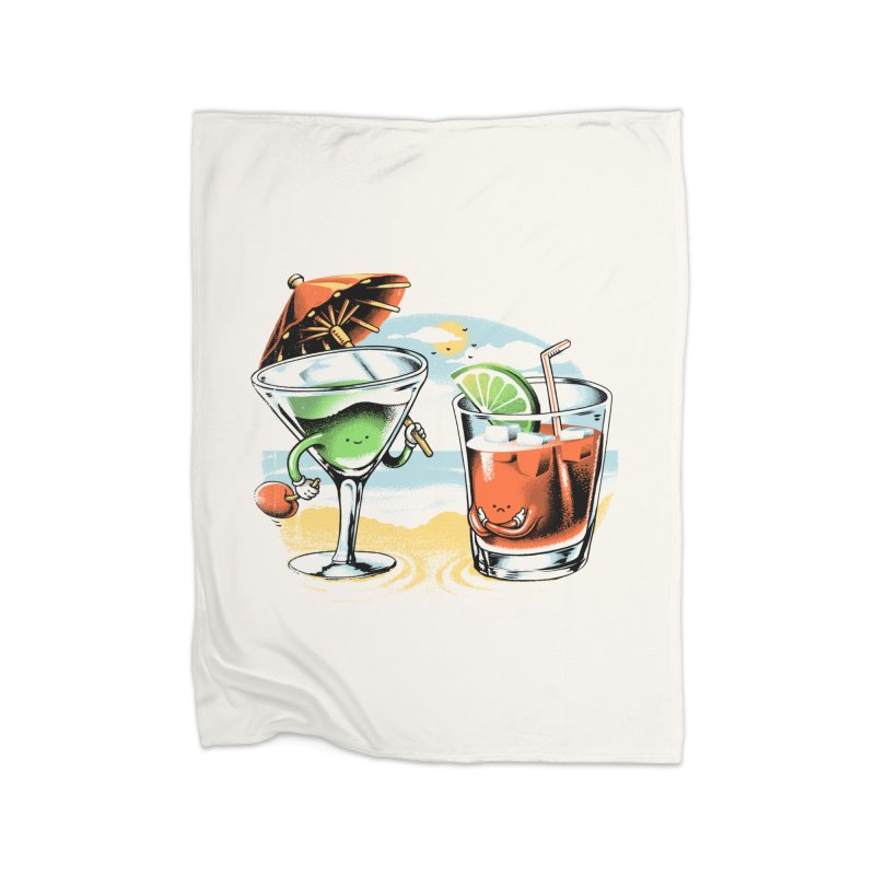 A Day at the Beach Home Blanket by metalsan's Artist Shop
