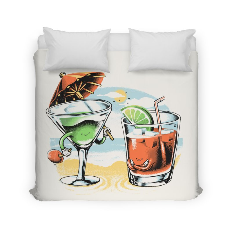 A Day at the Beach Home Duvet by metalsan's Artist Shop