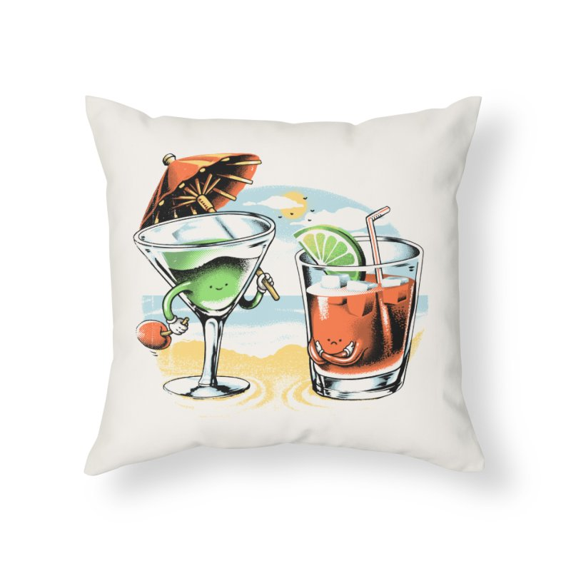 A Day at the Beach Home Throw Pillow by metalsan's Artist Shop