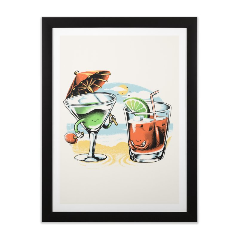 A Day at the Beach Home Framed Fine Art Print by metalsan's Artist Shop