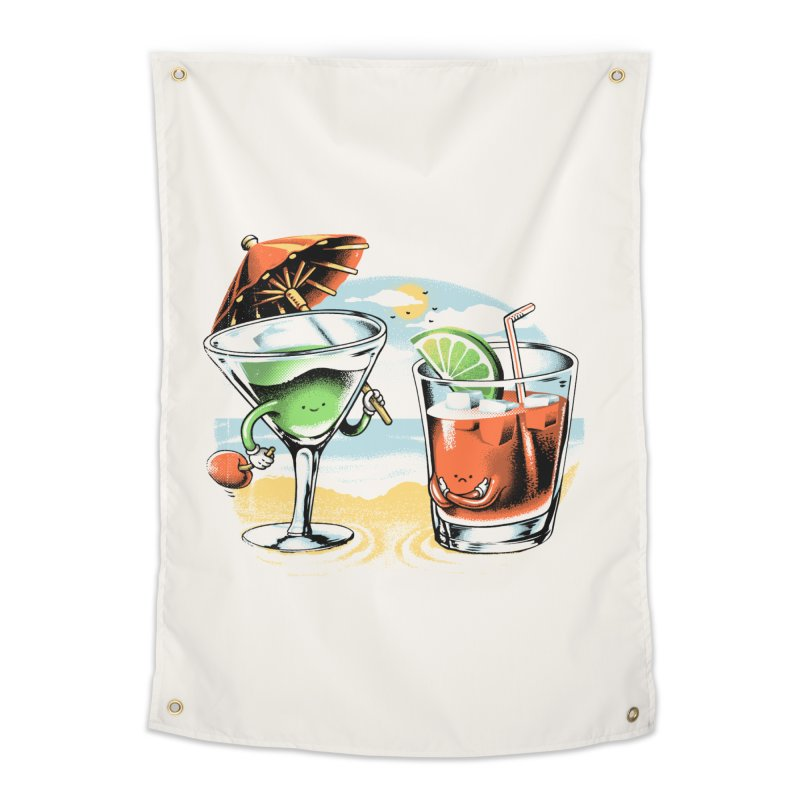 A Day at the Beach Home Tapestry by metalsan's Artist Shop