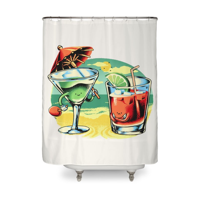 A Day at the Beach Home Shower Curtain by Santiago Sarquis's Artist Shop