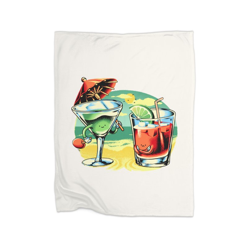 A Day at the Beach Home Blanket by Santiago Sarquis's Artist Shop