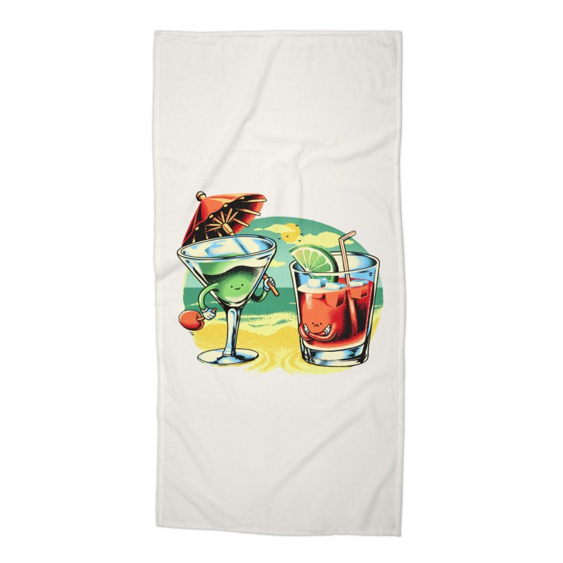 A Day at the Beach Accessories Beach Towel by Santiago Sarquis's Artist Shop