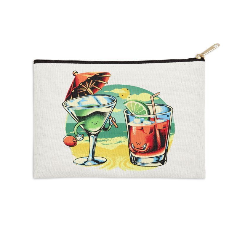 A Day at the Beach Accessories Zip Pouch by Santiago Sarquis's Artist Shop