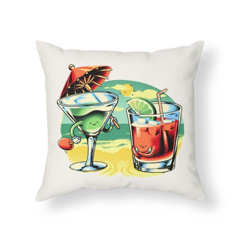A Day at the Beach Home Throw Pillow by Santiago Sarquis's Artist Shop