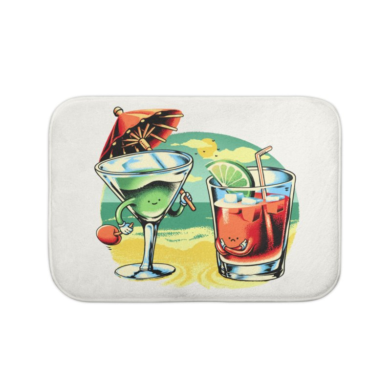A Day at the Beach Home Bath Mat by Santiago Sarquis's Artist Shop