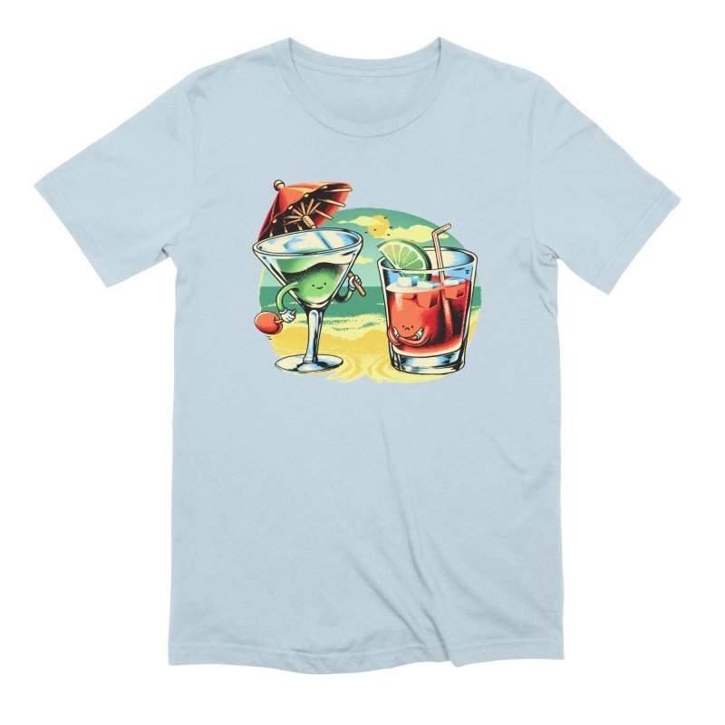 A Day at the Beach Men's Extra Soft T-Shirt by Santiago Sarquis's Artist Shop