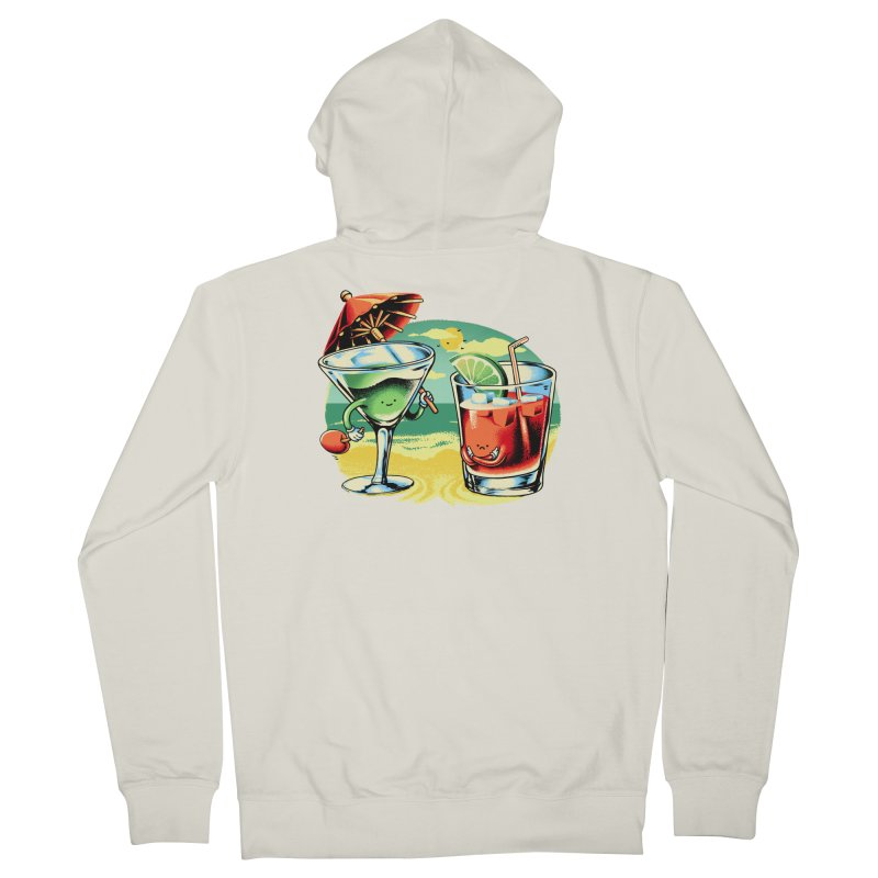 A Day at the Beach Women's Zip-Up Hoody by Santiago Sarquis's Artist Shop