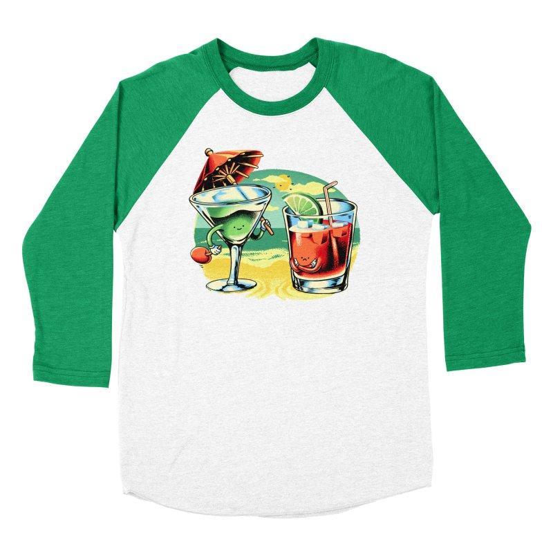 A Day at the Beach Women's Baseball Triblend Longsleeve T-Shirt by Santiago Sarquis's Artist Shop