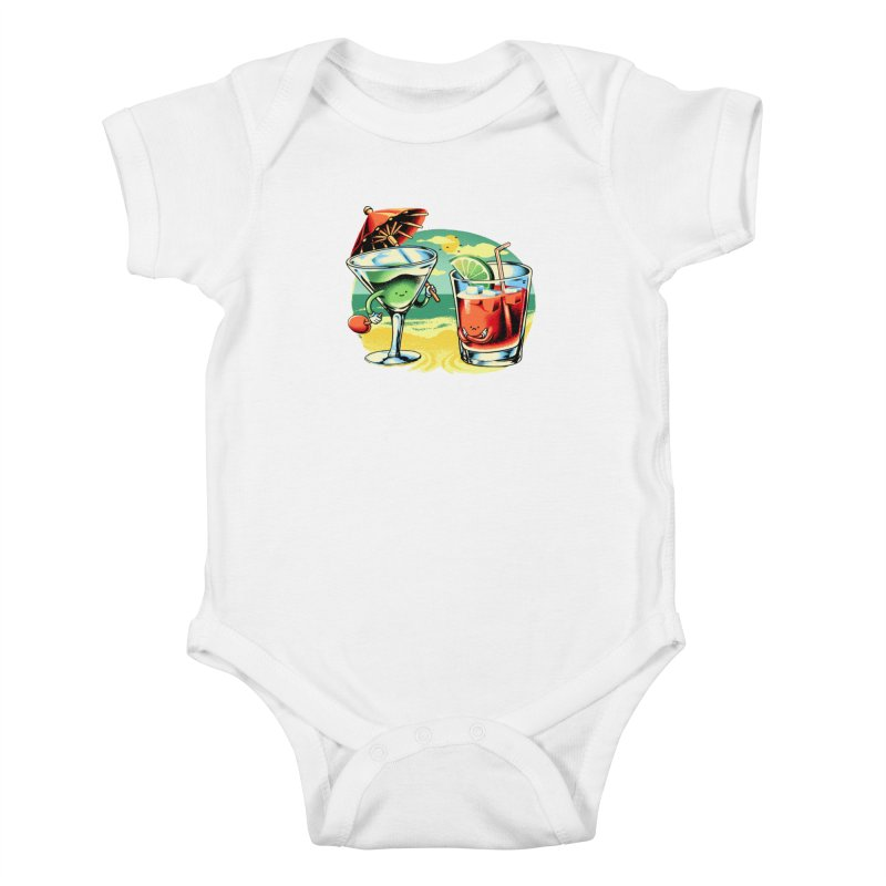 A Day at the Beach Kids Baby Bodysuit by Santiago Sarquis's Artist Shop
