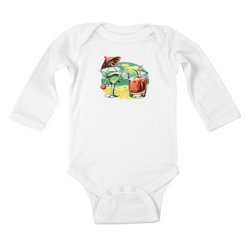 A Day at the Beach Kids Baby Longsleeve Bodysuit by Santiago Sarquis's Artist Shop